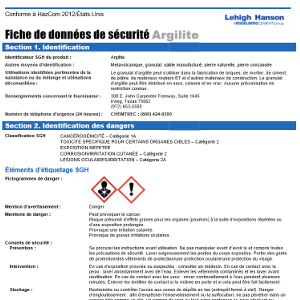 Image of Safety Data Sheets French
